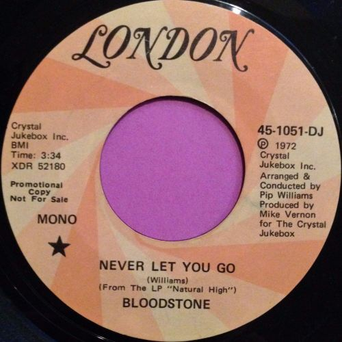 Bloodstone-Never let you go-London demo E+