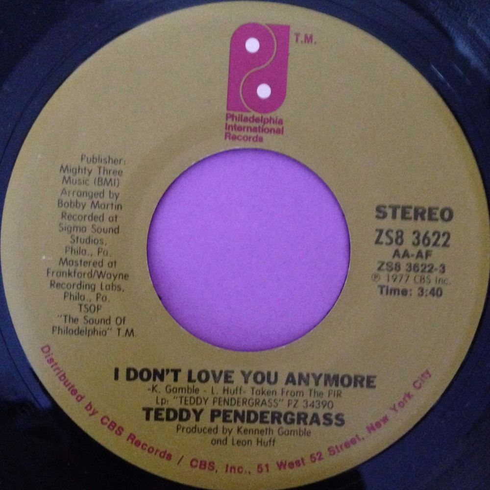 Teddy Pendergrass-I don`t love you anymore-PIR  M-
