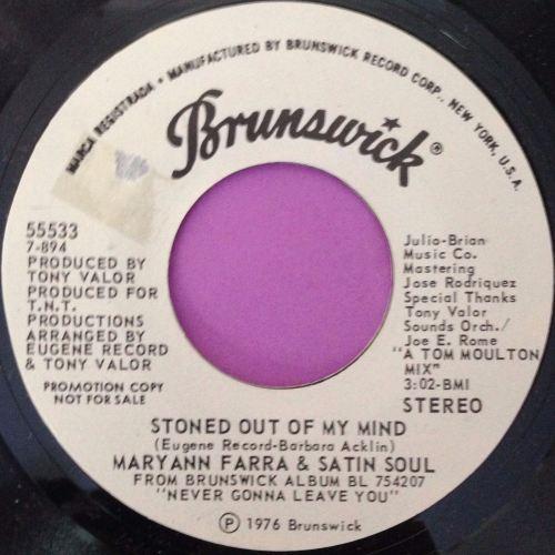 Maryann Farra & Satin soul-Stones out of my mind-Brunswick WD E+
