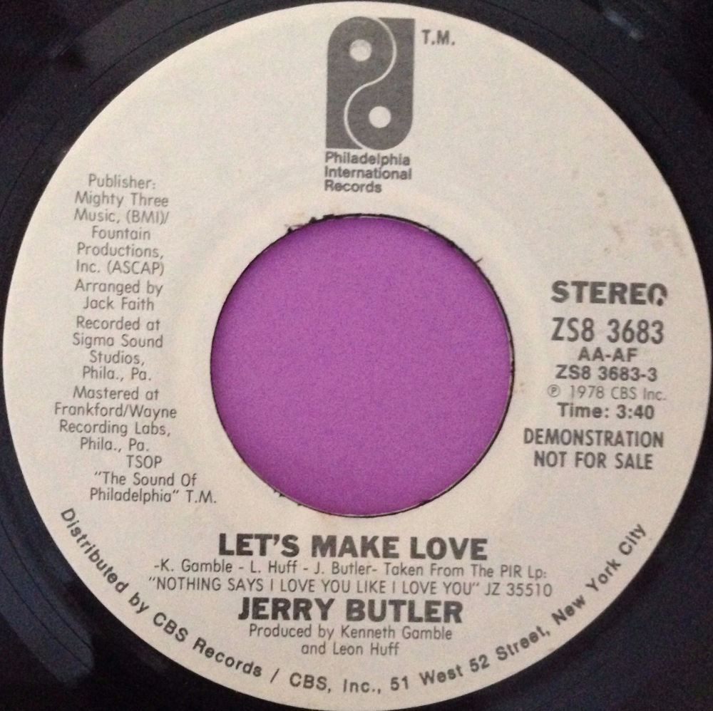 Jerry Butler- Let`s make love-PIR WD E+