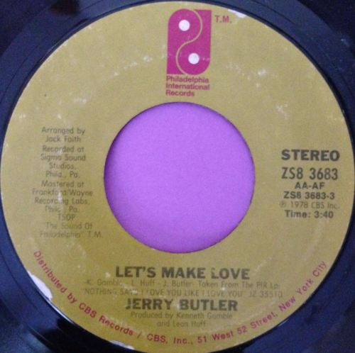 Jerry Butler- Let`s make love-PIR E