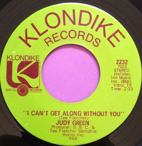 Judy Green-I just can`t get along without you-Klondike M-