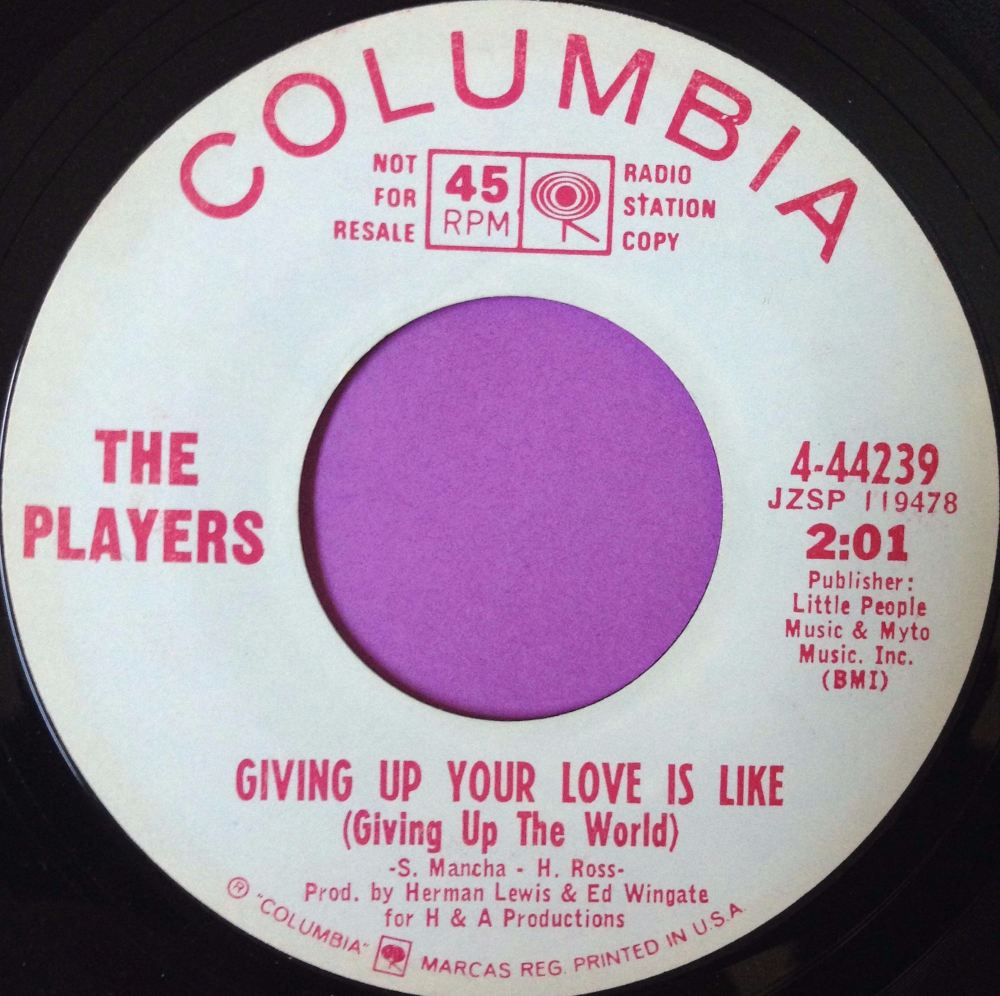 Players-Giving up your love-Columbia WD E+