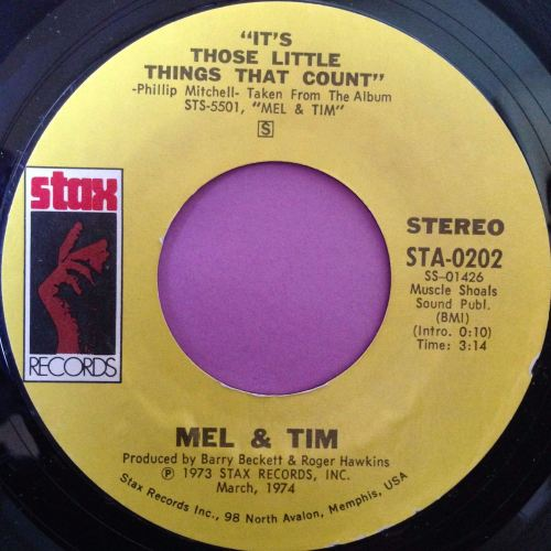 Mel & Tim-It`s those little things that count-Stax E+