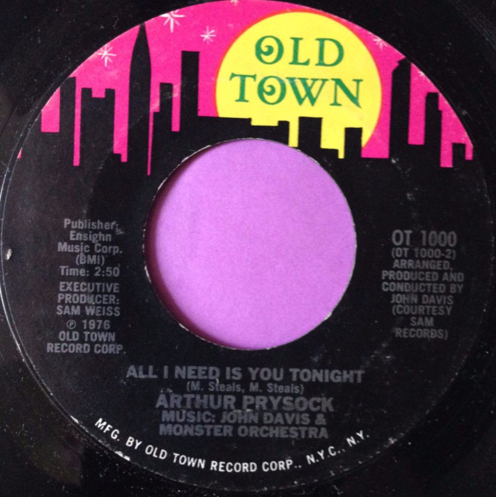 Arthur Prysock-All I need is you tonight-Oldtown E+