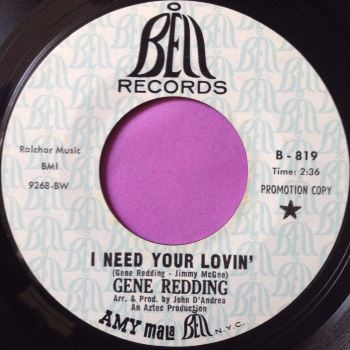 Gene Redding-I need your love/ I got soul-Bell demo E+