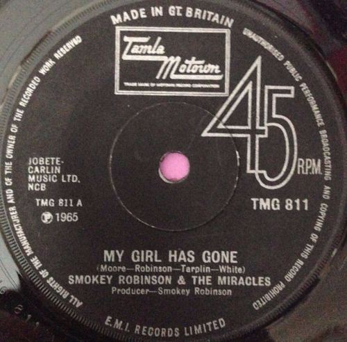 Miracles-My girl has gone-TMG 811 E+