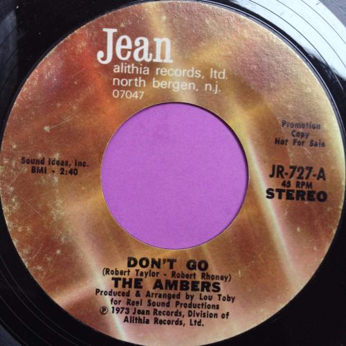 Ambers-Don`t go-Jean E+