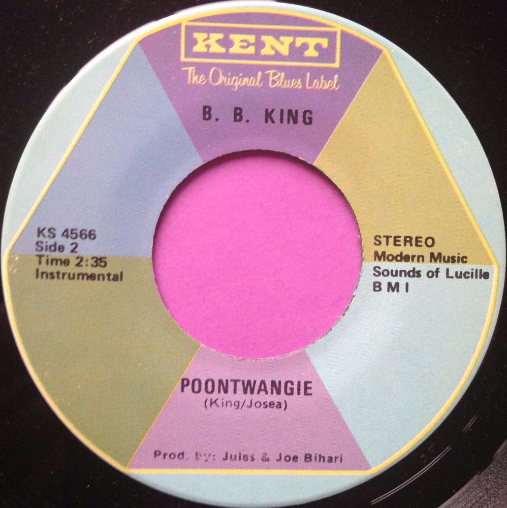 B B King - Poontwangie - Kent - E+