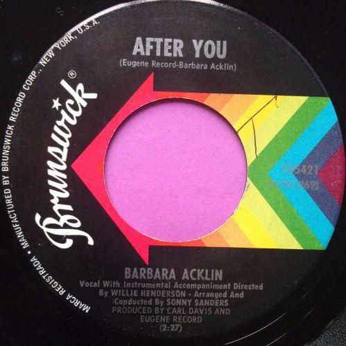 Barbara Acklin-After you-Brunswick E+