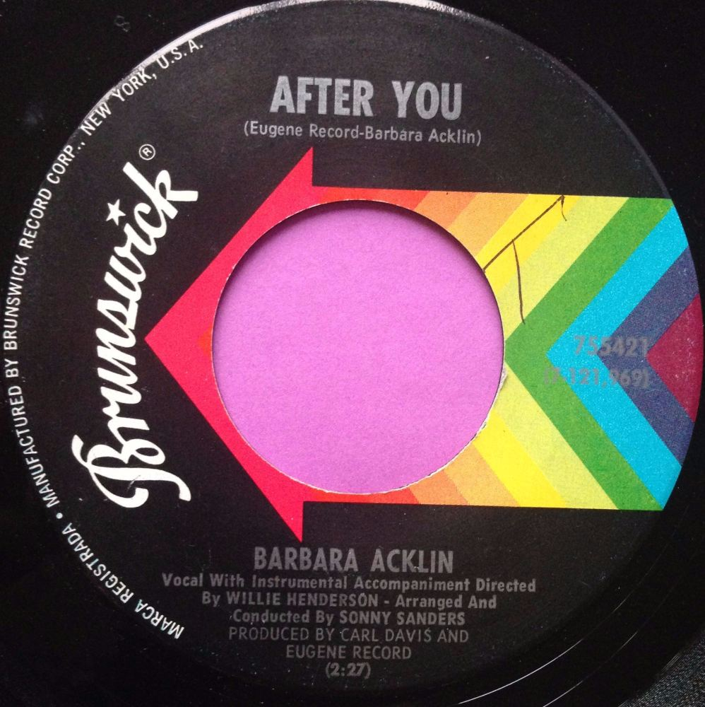 Barbara Acklin-After you-Brunswick E+