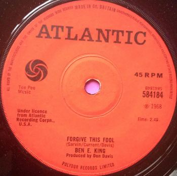 Ben E King - Forgive this Fool - Atlantic - M-