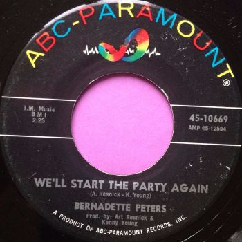 Bernadette Peters-We`ll start the party again-ABC vg+