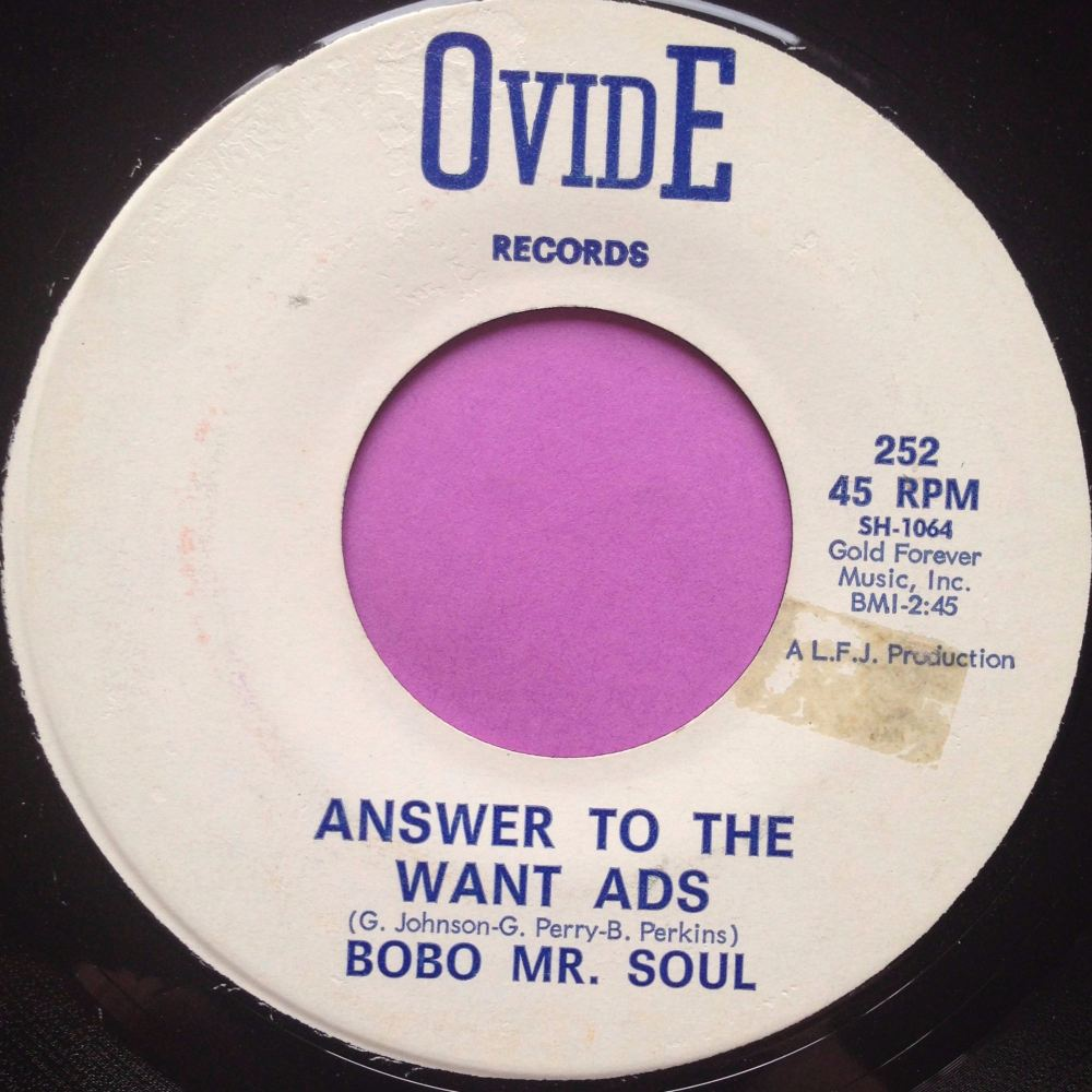 Bobo Mr Soul-Answer to the want ads-Ovide M-
