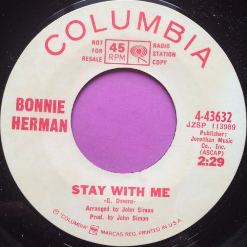 Bonnie Herman-Stay with me-Columbia WD M-