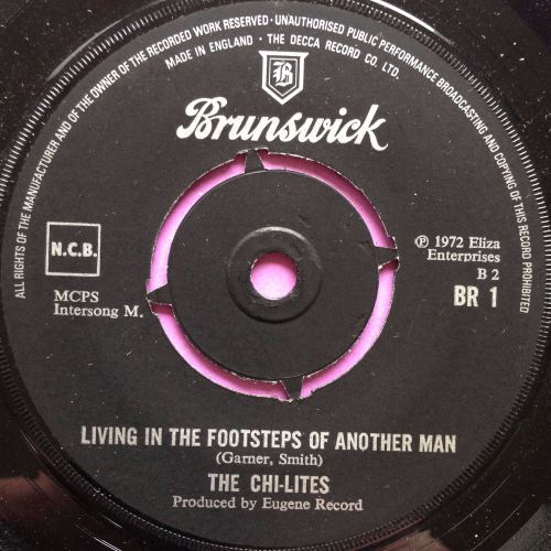 Chi-lites-Living in the footsteps-UK Brunswick E+