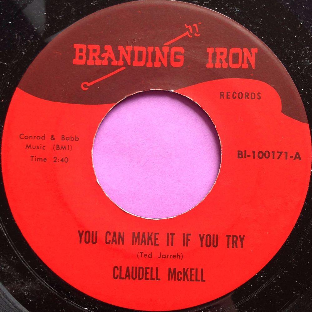 Claudell McKell-Experience is the best teacher-Branding iron M-