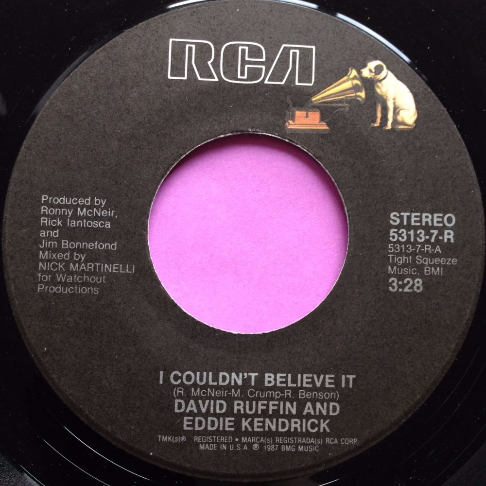David Ruffin & Eddie Kendrick-I couldn`t believe it-RCA E+