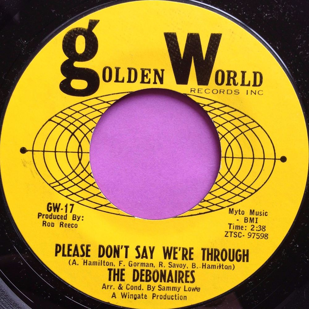 Debonaires-Please don`t say we`re through-Golden world M-