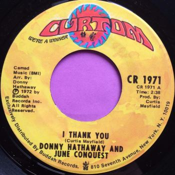 Donny Hathaway/June Conquest-I thank you-Curtom E+