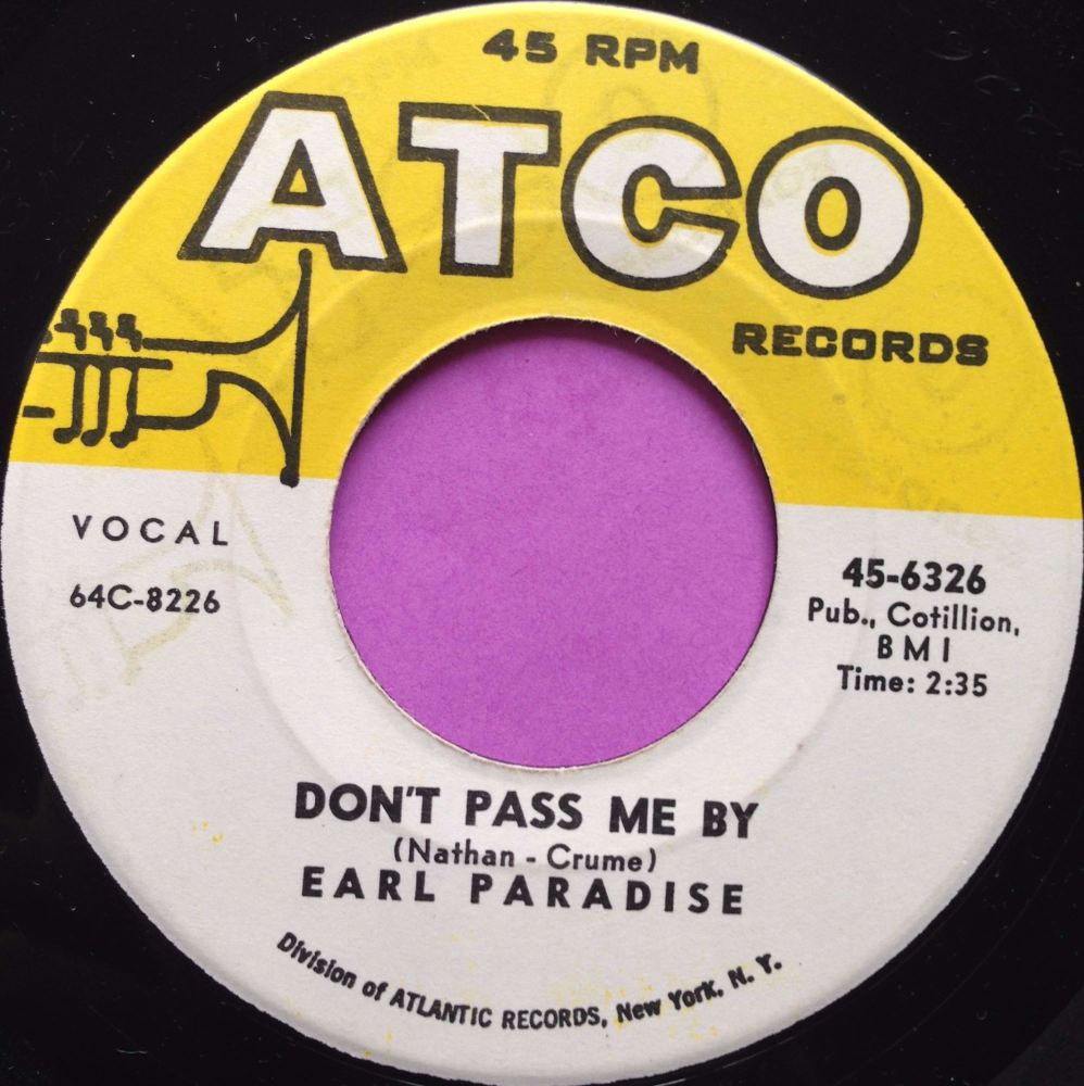 Earl Paradise-Don`t pass me by-Atco E