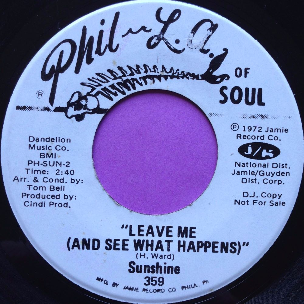 Sunshine-Leave me-Phil-La of soul WD