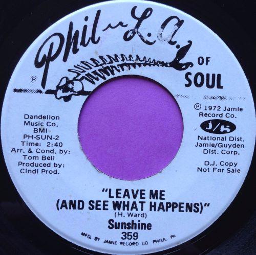 Sunshine-Leave me-Phil-La of soul WD