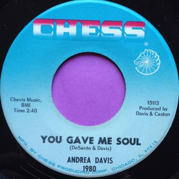 Andrea Davis-You gave me soul-Chess E+