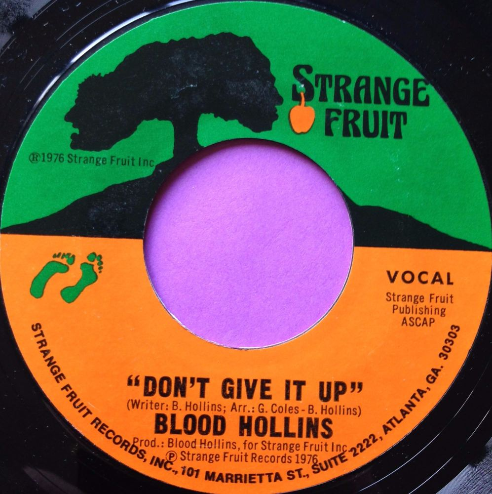 Blood Hollins-Don`t give it up-Strange fruit E+
