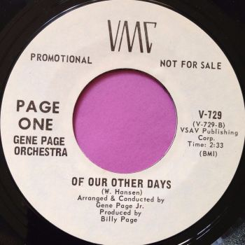 Gene Page Orchestra-Of our fathers days-VMC WD E+