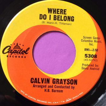 Calvin Grayson-Where I belong-Capitol E+