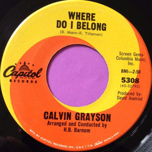 Calvin Grayson-Where I belong-Capitol E+