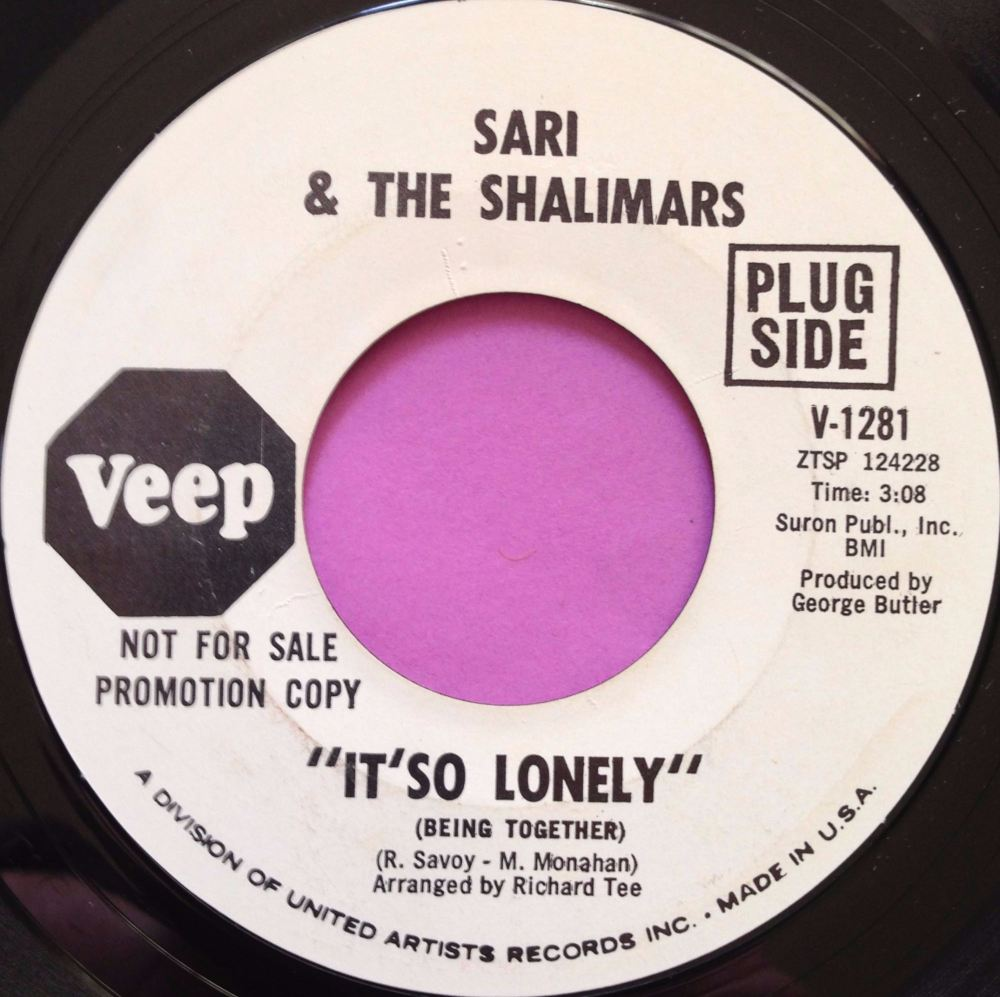 Sari & The sharks-It`so Lonely-Veep WD E+