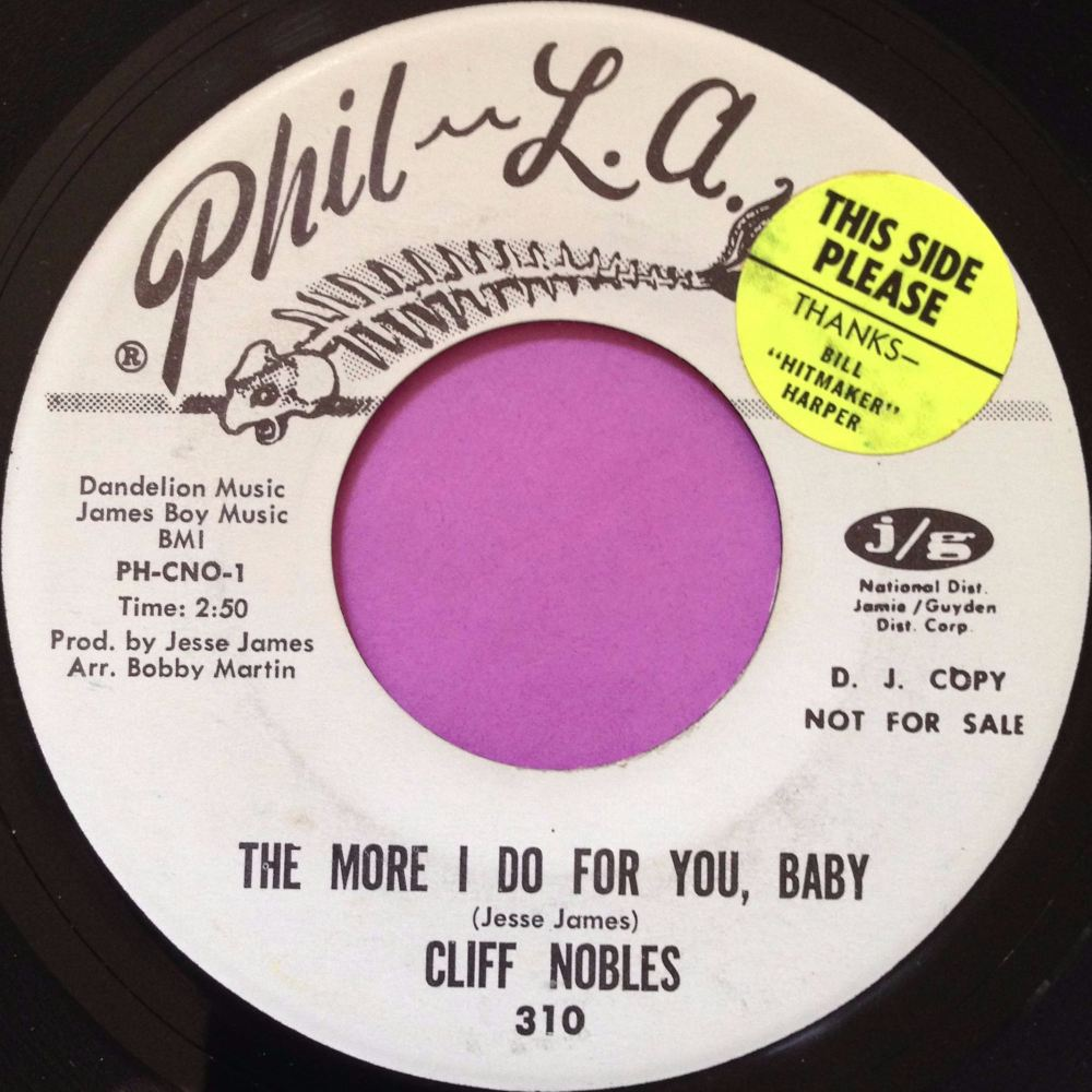 Cliff Nobles-The more I do for you baby-Phila-Of Soul WD E+