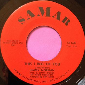 Jimmy Norman-This I beg of you-Samar E+