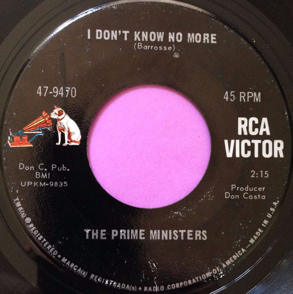 Prime Ministers-I don`t know no more-RCA E+