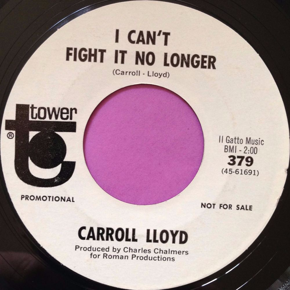 Carroll LLoyd-I can`t fight no longer-Tower E+