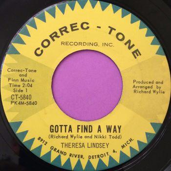 Theresa Lindsey-Gotta find a way-Correc-tone E+