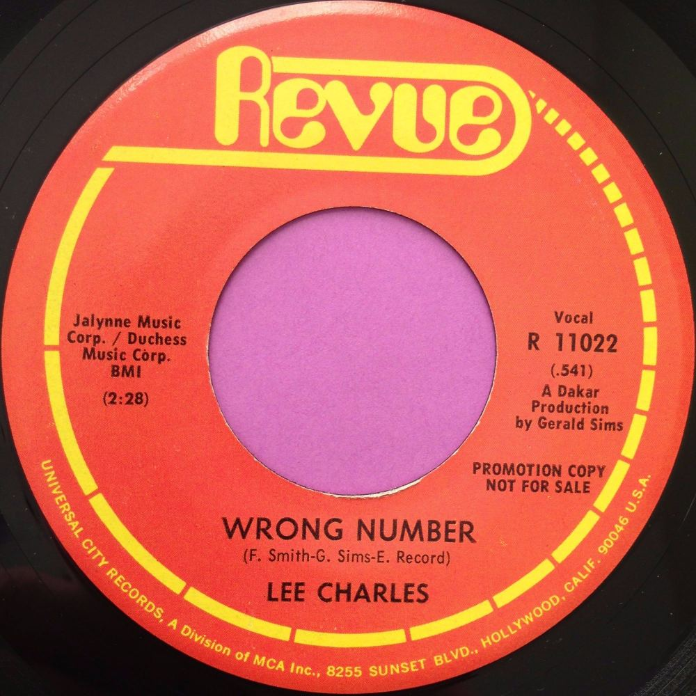 Lee Charles-Wrong number-Revue demo E+
