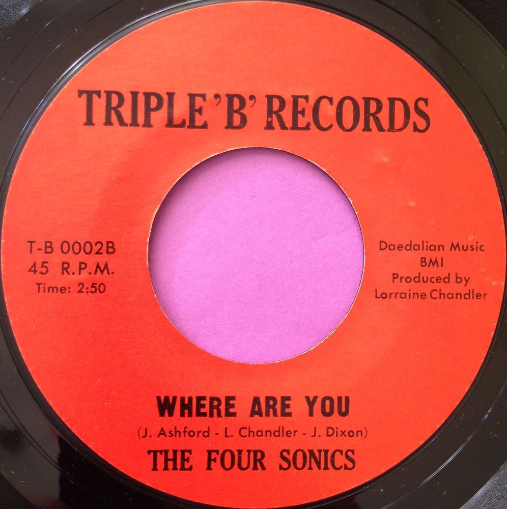 Four Sonics-Where are you-Triple B M-