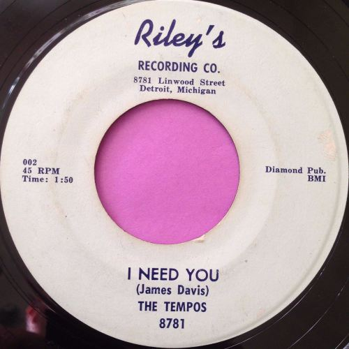 Tempos-I need you-Riley`s E