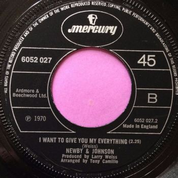 Newby & Johnson-I want to give you my everything-Mercury E+