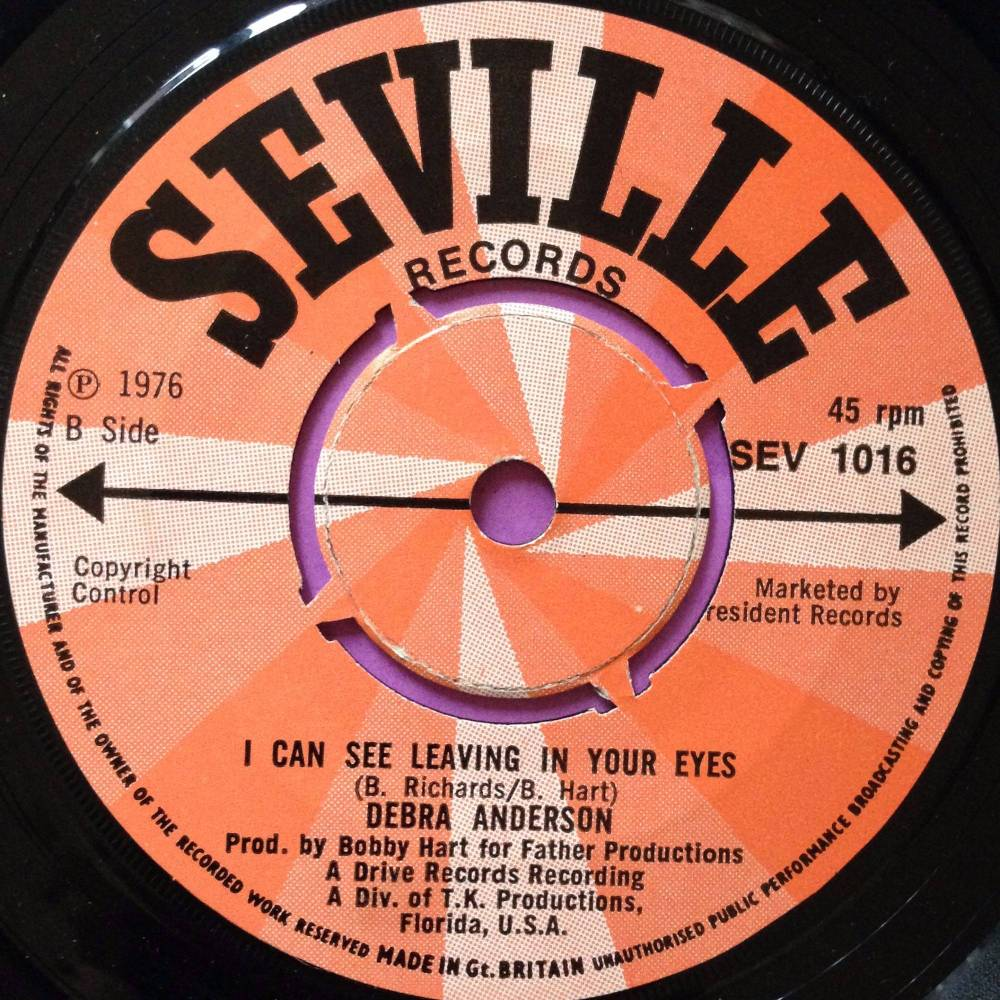 Debra Anderson-I can see leaving in your eyes-UK Seville E+