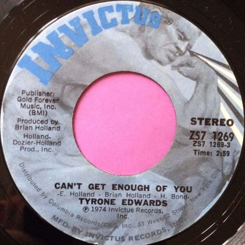 Tyrone Edwards-Can`t get enough of you-Invictus E+