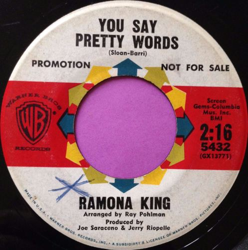 Ramona King-You say pretty words-WB vg+