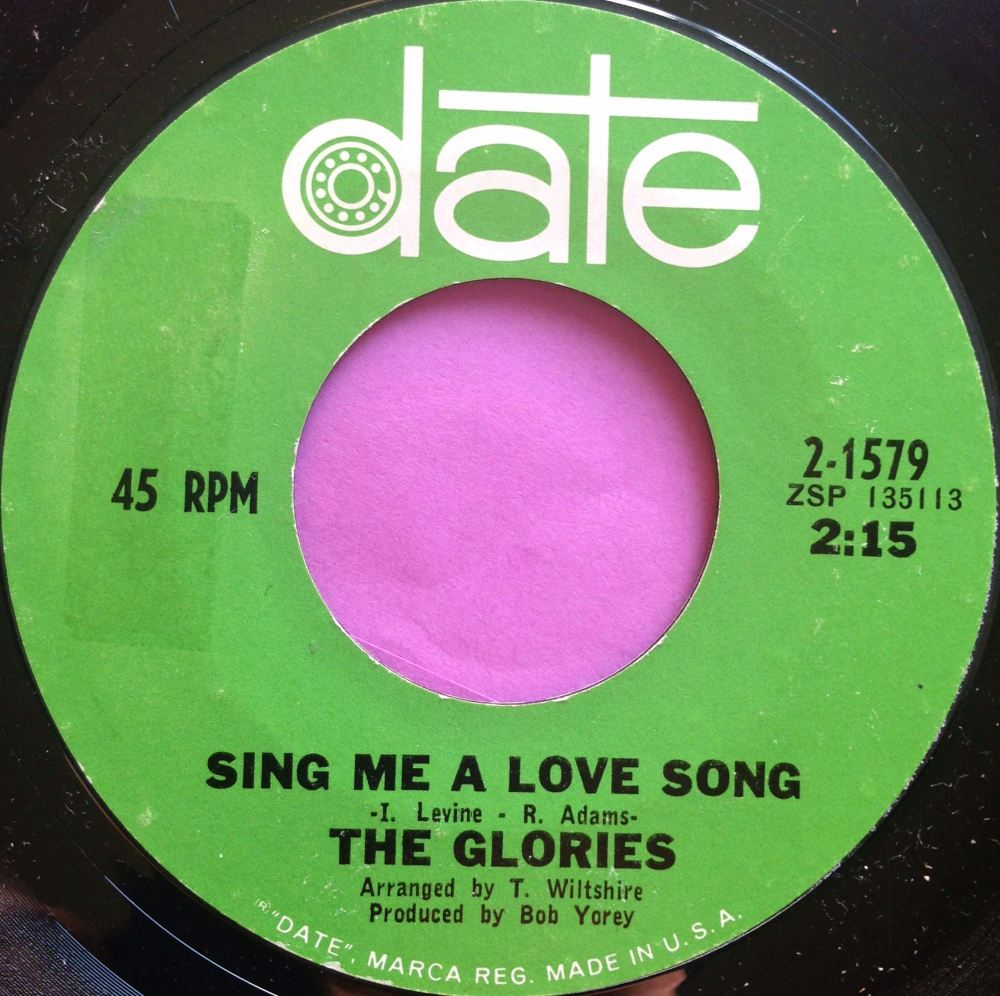 Glories - Sing me a love song - Date - E
