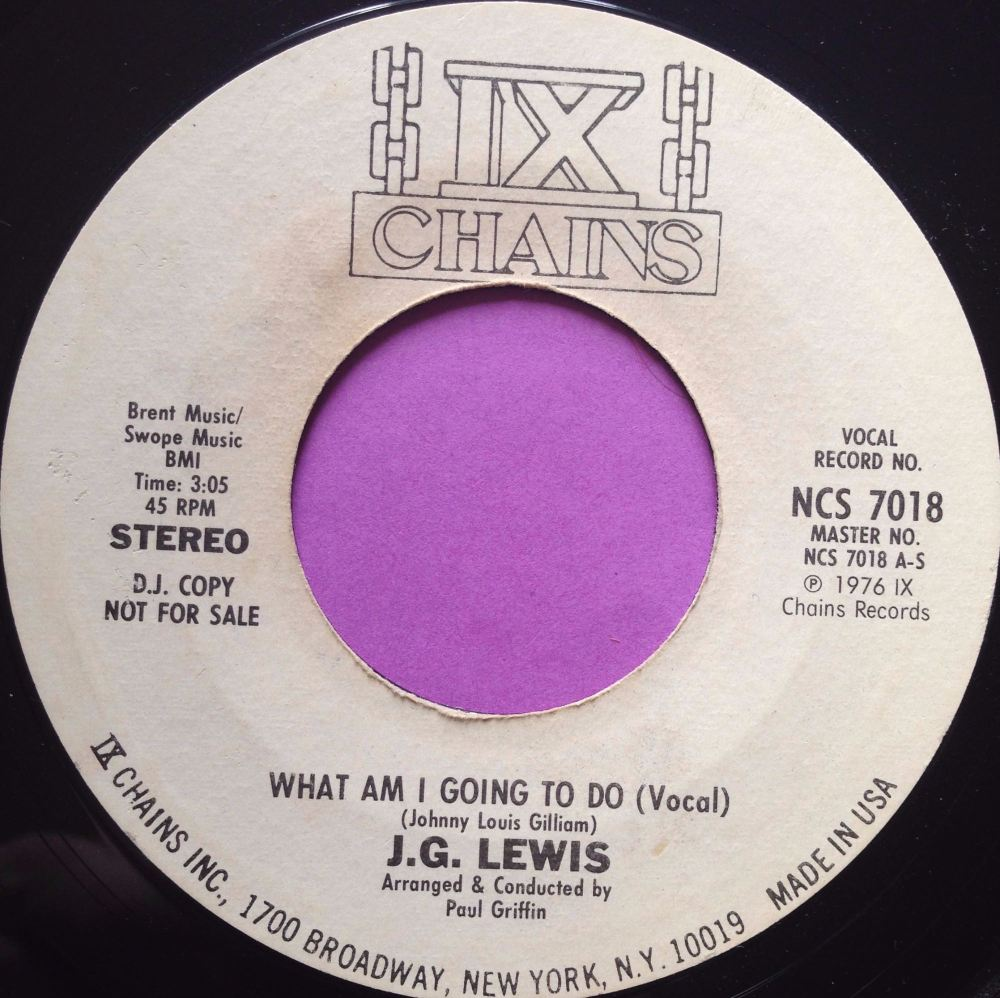 J.G Lewis-What am I gonna do-ix Chains WD E+