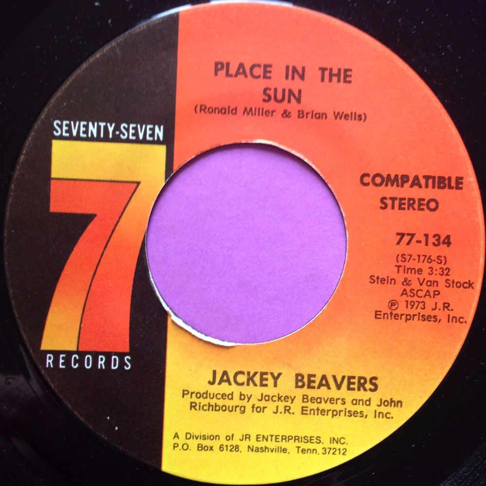 Jackey Beavers-A place in the sun-Seventy seven M-