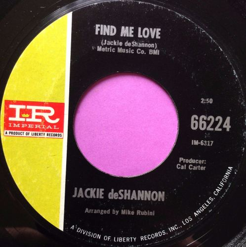 Jackie de Shannon - Find me love - Imperial - M-