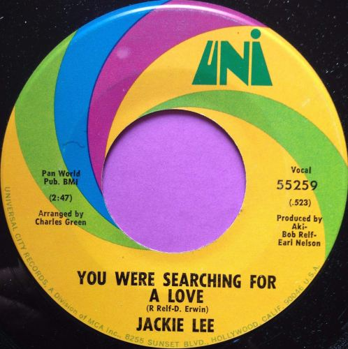 Jackie Lee-You were searching for love-UNI E